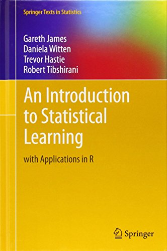 Cover: An Introduction to Statistical Learning: with Applications in R (Springer Texts in Statistics)