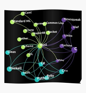 Rust Programming Language Influence Network